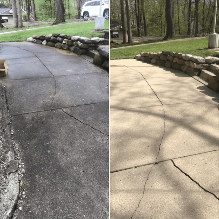 sidewalk & driveway pressure washing